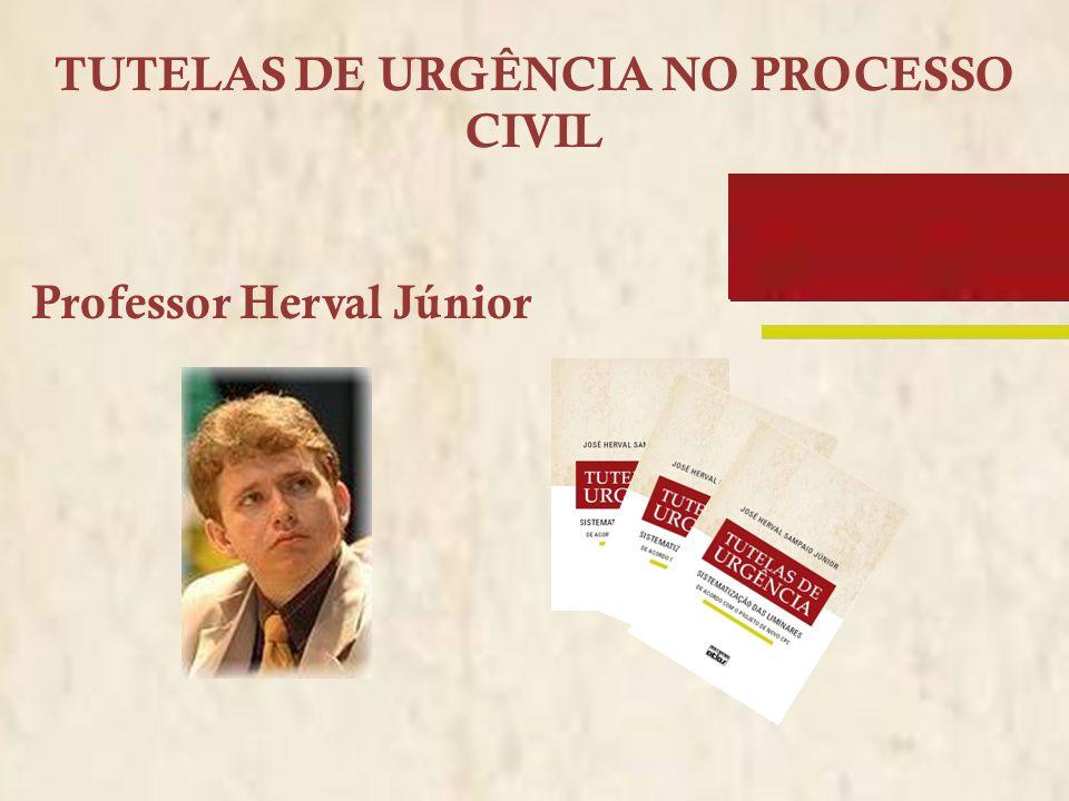 TUTELAS DE URGÊNCIA NO PROCESSO CIVIL Professor Herval Júnior
