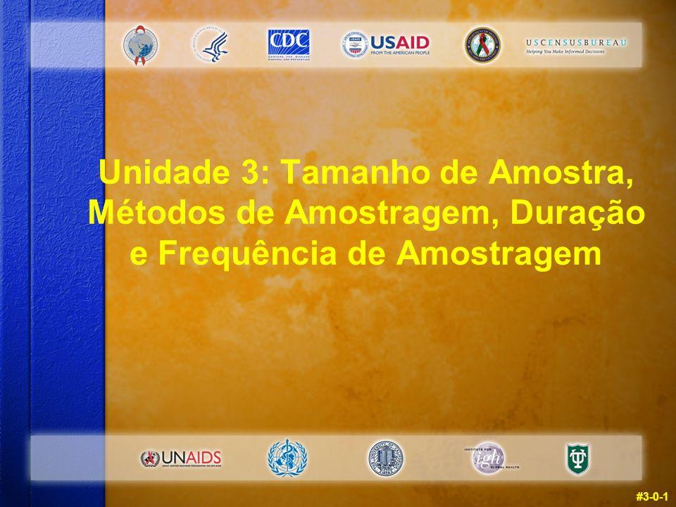 #3-0-1 Unidade 3: Tamanho de Amostra, Métodos de Amostragem, Duração e Frequência de Amostragem