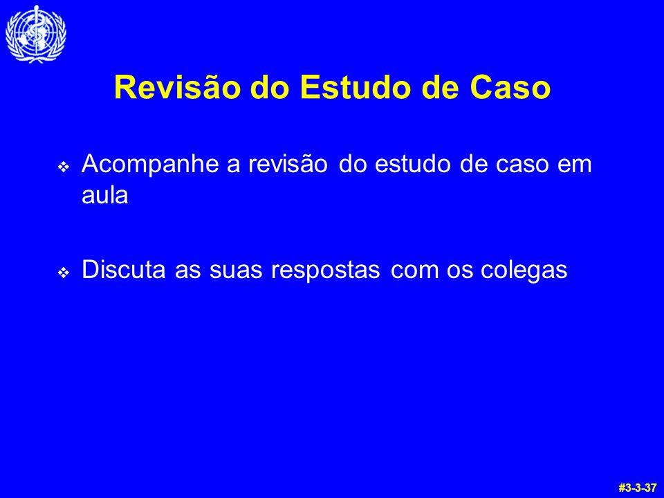 Revisão do Estudo de Caso Acompanhe a revisão do estudo de caso em aula Discuta as suas respostas com os colegas #3-3-37