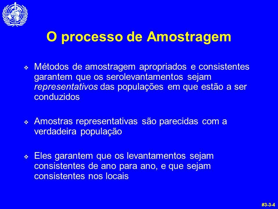 O processo de Amostragem Métodos de amostragem apropriados e consistentes garantem que os serolevantamentos sejam representativos das populações em qu