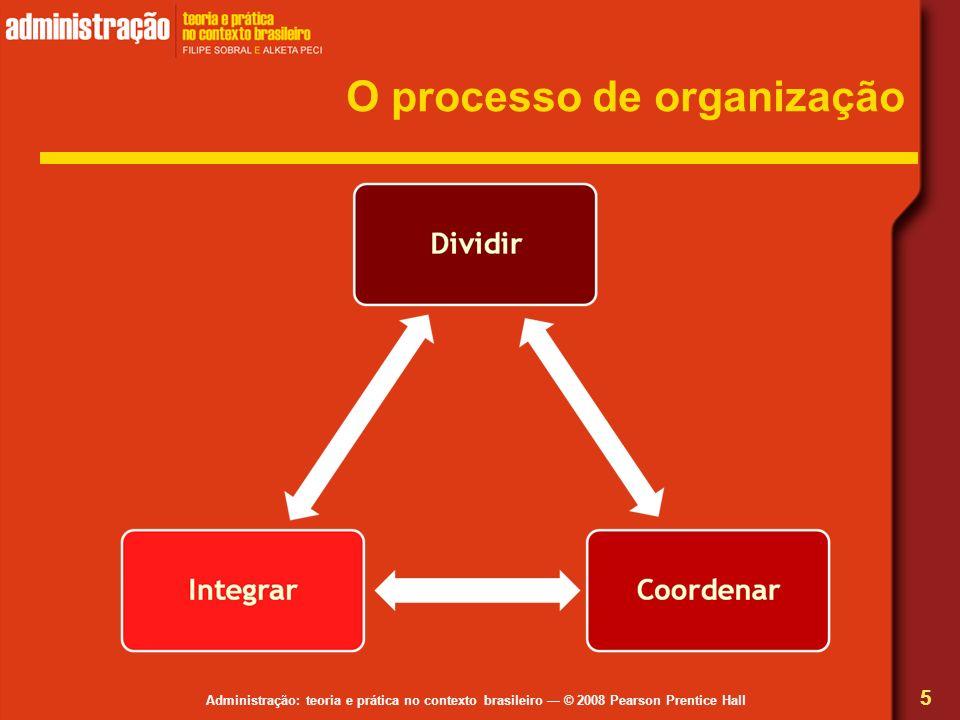 Administração: teoria e prática no contexto brasileiro © 2008 Pearson Prentice Hall O processo de organização 5