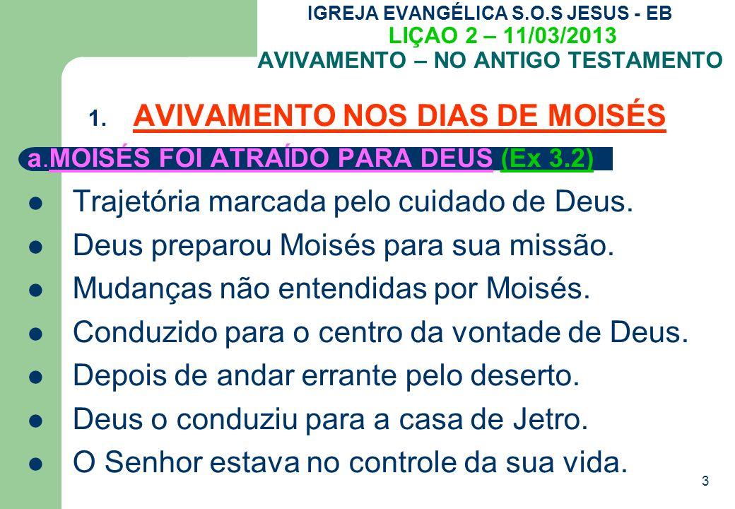 3 IGREJA EVANGÉLICA S.O.S JESUS - EB LIÇAO 2 – 11/03/2013 AVIVAMENTO – NO ANTIGO TESTAMENTO 1.