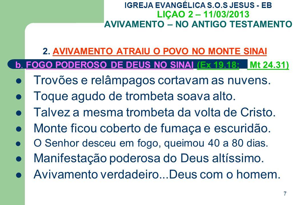 7 IGREJA EVANGÉLICA S.O.S JESUS - EB LIÇAO 2 – 11/03/2013 AVIVAMENTO – NO ANTIGO TESTAMENTO 2.
