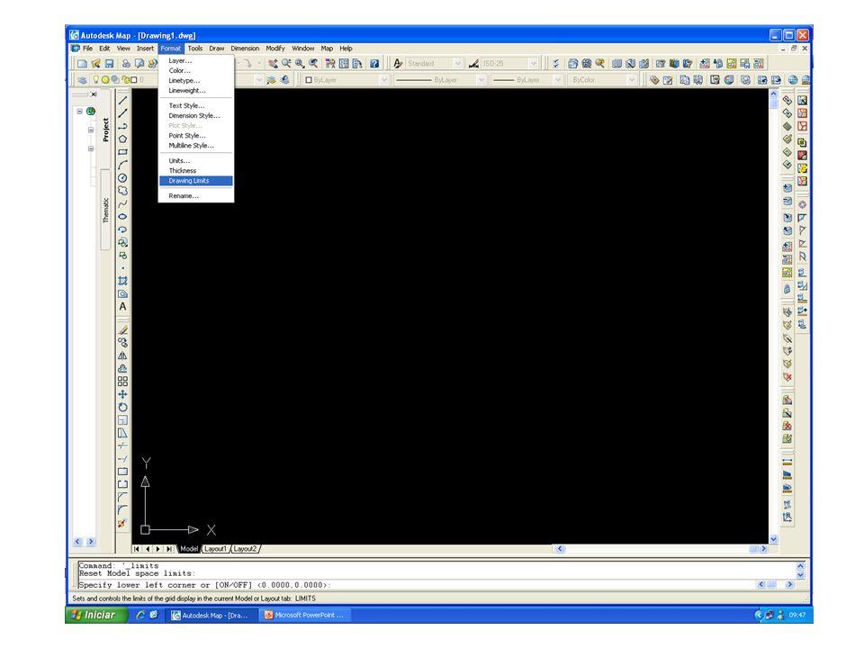 No prompt (Parte inferior da tela): Prima (500000,10000000) no especifique canto direito.