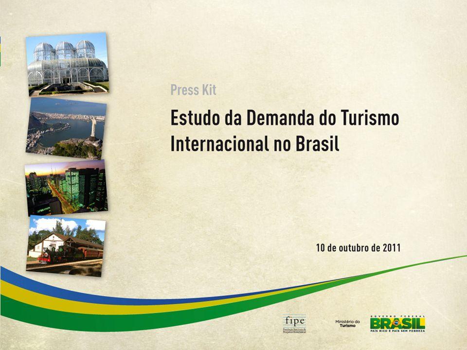 Distribuição Geográfica dos Pontos de Coleta de Dados 15 aeroportos internacionais 12 fronteiras terrestres * * dois pontos em Foz do Iguaçu 15 em aeroportos internacionais, que representam 99% do fluxo internacional aéreo; 12 em fronteiras terrestres, que representam cerca de 90% do fluxo internacional terrestre.