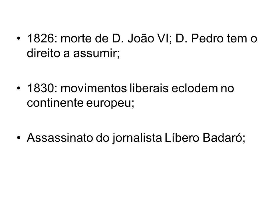 1826: morte de D.João VI; D.