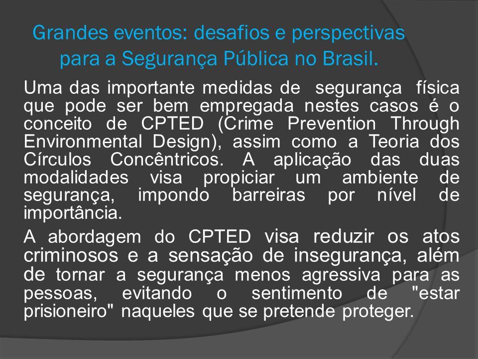 Grandes eventos: desafios e perspectivas para a Segurança Pública no Brasil. Uma das importante medidas de segurança física que pode ser bem empregada