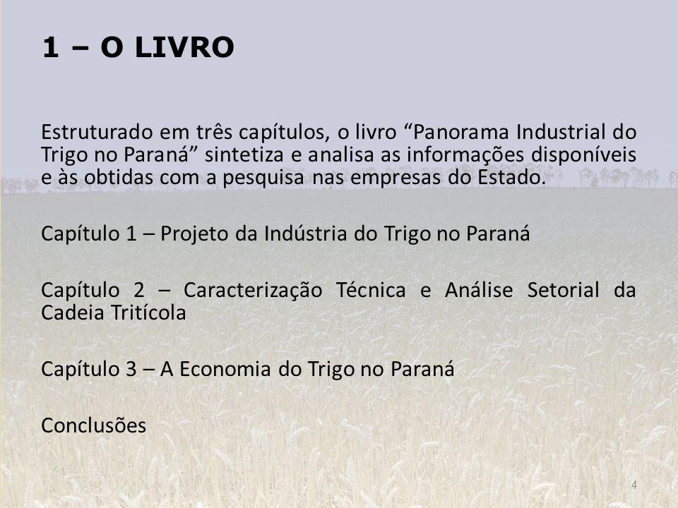 Estruturado em três capítulos, o livro Panorama Industrial do Trigo no Paraná sintetiza e analisa as informações disponíveis e às obtidas com a pesqui
