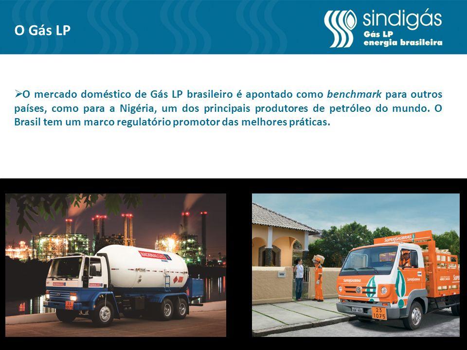 O Gás LP O mercado doméstico de Gás LP brasileiro é apontado como benchmark para outros países, como para a Nigéria, um dos principais produtores de petróleo do mundo.