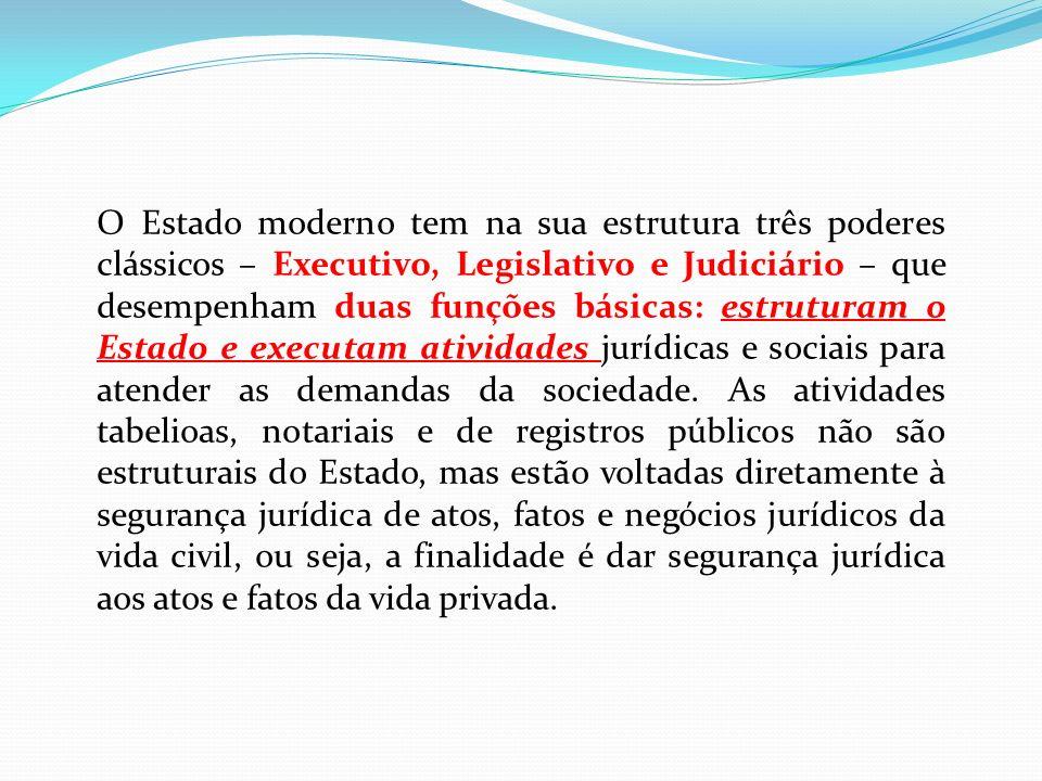 O Estado moderno tem na sua estrutura três poderes clássicos – Executivo, Legislativo e Judiciário – que desempenham duas funções básicas: estruturam