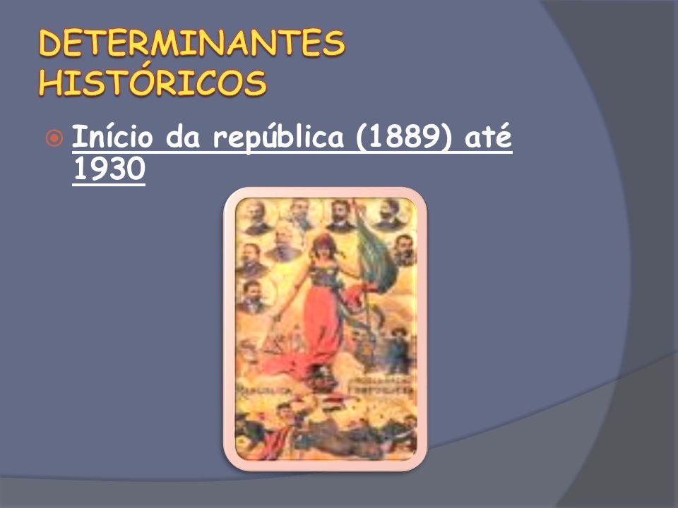 Início da república (1889) até 1930