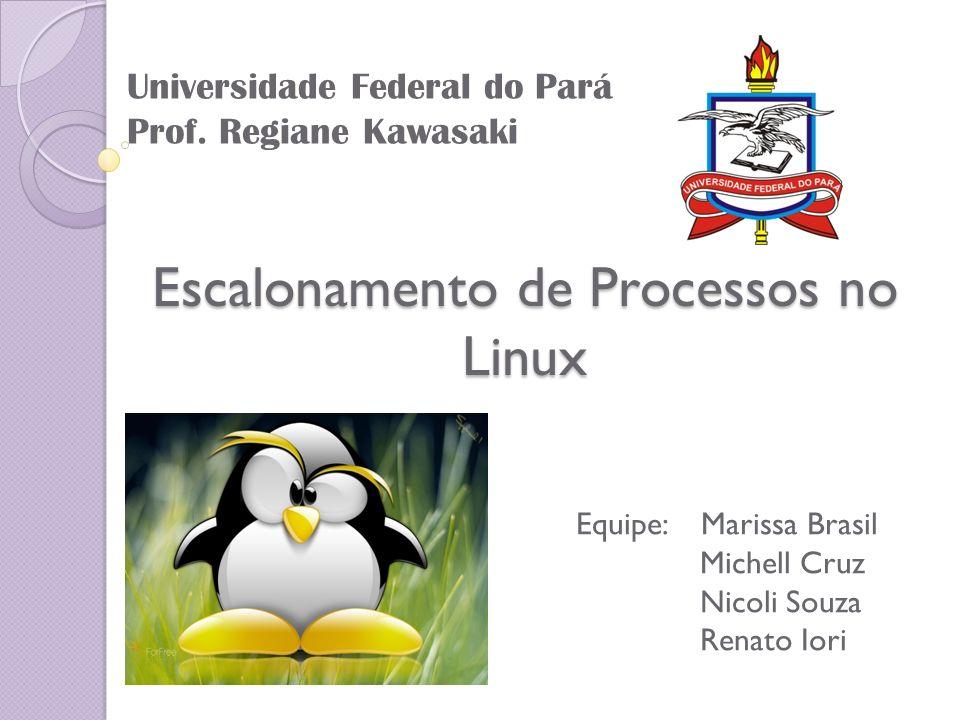Escalonamento de Processos no Linux Equipe: Marissa Brasil Michell Cruz Nicoli Souza Renato Iori Universidade Federal do Pará Prof. Regiane Kawasaki