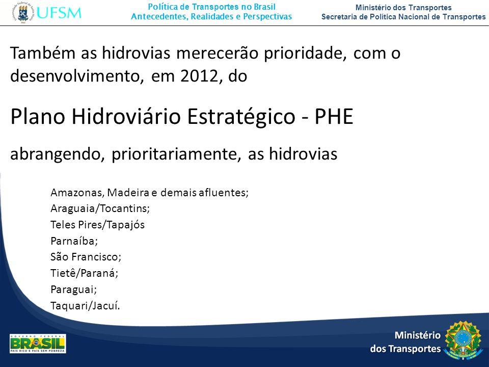 Política de Transportes no Brasil Antecedentes, Realidades e Perspectivas Ministério dos Transportes Secretaria de Política Nacional de Transportes Ta