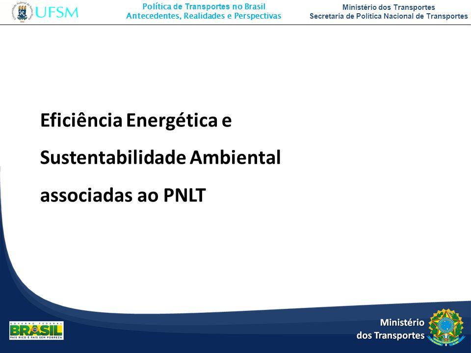 Política de Transportes no Brasil Antecedentes, Realidades e Perspectivas Ministério dos Transportes Secretaria de Política Nacional de Transportes Ef