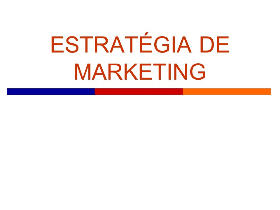 Plano de Marketing (1) O que é.