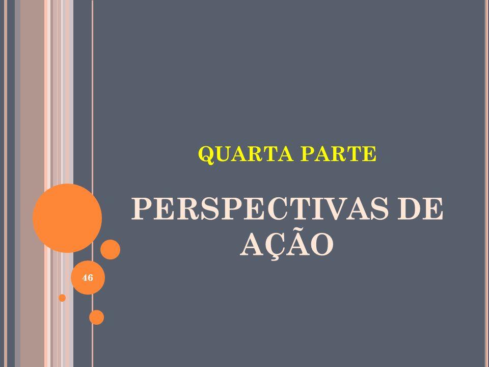 QUARTA PARTE PERSPECTIVAS DE AÇÃO 46