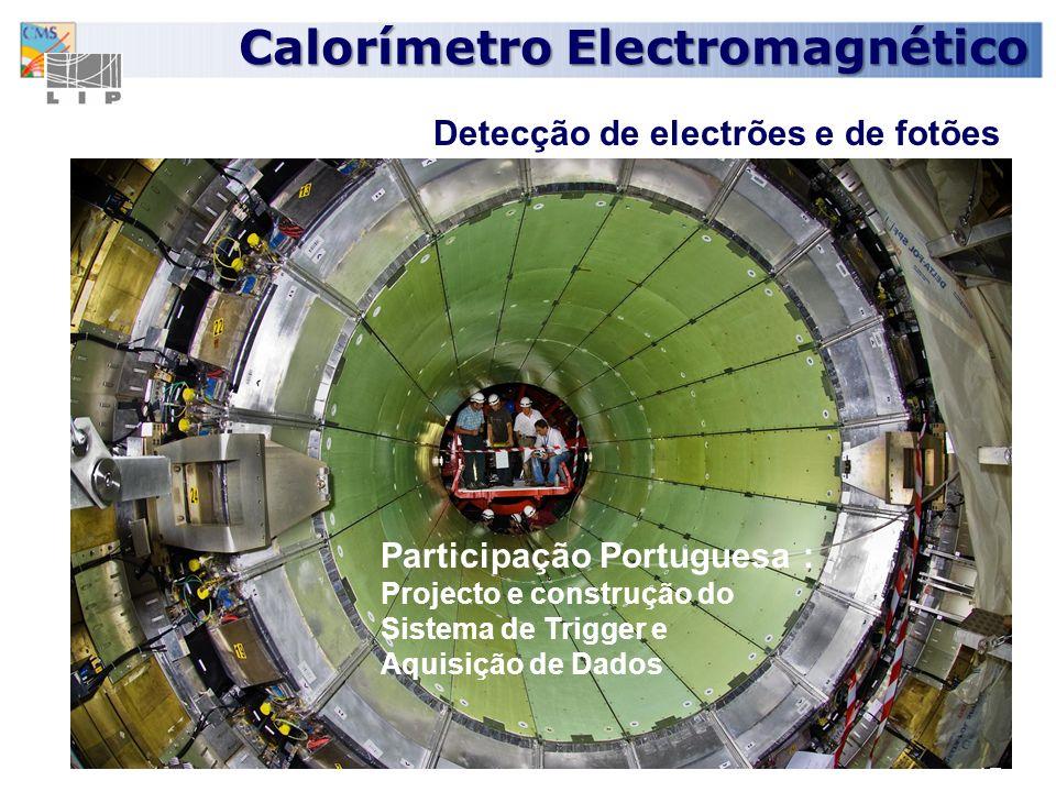 17 Calorímetro Electromagnético Detecção de electrões e de fotões Participação Portuguesa : Projecto e construção do Sistema de Trigger e Aquisição de Dados