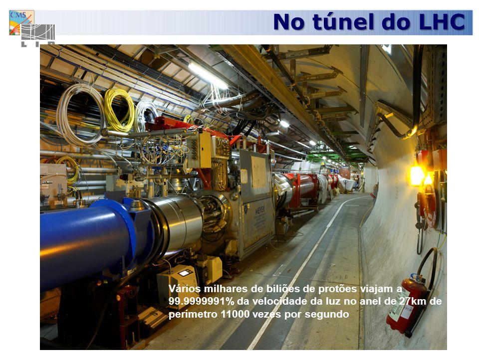 7 Para acelerar protões até à velocidade da luz é preciso um vácuo semelhante ao do espaço interplanetário.