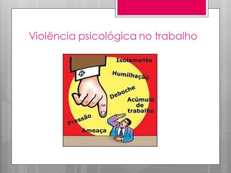 Saúde Mental Relacionada ao Trabalho (SMRT) – a psicopatologia da precarização e da violência Essa categorização tem como fundamento estudos clínicos e sociais realizados em diferentes países, inclusive no Brasil, ao longo das últimas três décadas, e tem sido objeto de revisão e sistematização recentes.