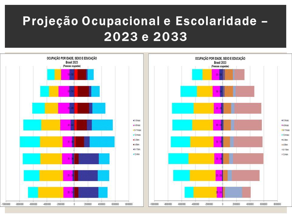 Projeção Ocupacional e Escolaridade – 2023 e 2033
