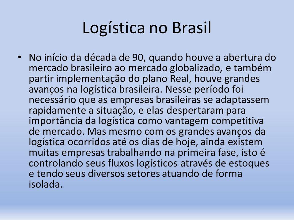 Logística no Brasil No início da década de 90, quando houve a abertura do mercado brasileiro ao mercado globalizado, e também partir implementação do
