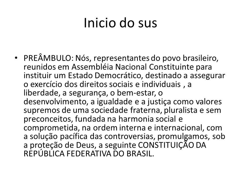 PREÂMBULO: Nós, representantes do povo brasileiro, reunidos em Assembléia Nacional Constituinte para instituir um Estado Democrático, destinado a asse