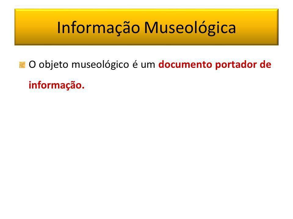 Documentação em Museus Os insuficientes recursos empreendidos com a informação/documentação é consequência do não conhecimento do potencial do museu como um sistema de informação, também no que se refere à questão da transferência e disseminação da informação.
