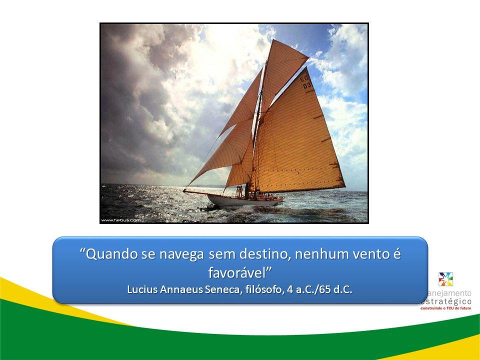 Quando se navega sem destino, nenhum vento é favorável Lucius Annaeus Seneca, filósofo, 4 a.C./65 d.C. Quando se navega sem destino, nenhum vento é fa