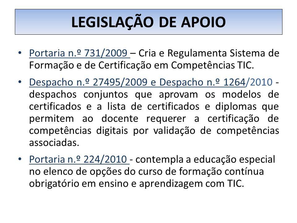 NÍVEIS DE CERTIFICAÇÃO A CERTIFICAÇÃO ESTRUTURA - SE EM 3 NÍVEIS : CERTIFICAÇÃO NÍVEL 1 Certificado de Competências Digitais, que visa certificar competências básicas que possibilitam a utilização instrumental das TIC no contexto profissional; CERTIFICAÇÃO NÍVEL 2 Certificado de Competências Pedagógicas e Profissionais com TIC, que visa certificar competências que permitem ao docente a utilização das TIC como recurso pedagógico no processo de ensino e aprendizagem; CERTIFICAÇÃO NÍVEL 3 Certificado de Competências Avançadas em TIC na Educação, certifica conhecimentos que habilitam o docente à utilização das TIC como recurso pedagógico numa perspetiva de inovação e investigação educacional.