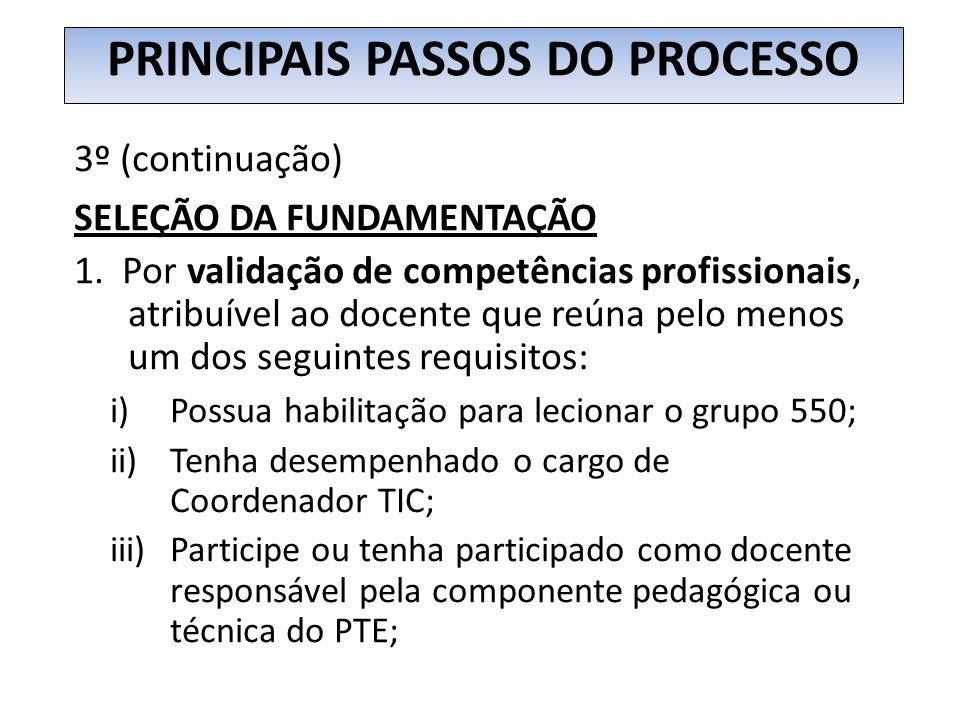 Fundamentação para o Pedido de Certificação (continuação) 2.