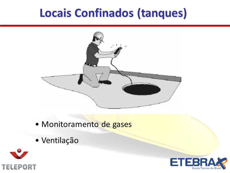 Locais Confinados (tanques) Monitoramento de gases Ventilação