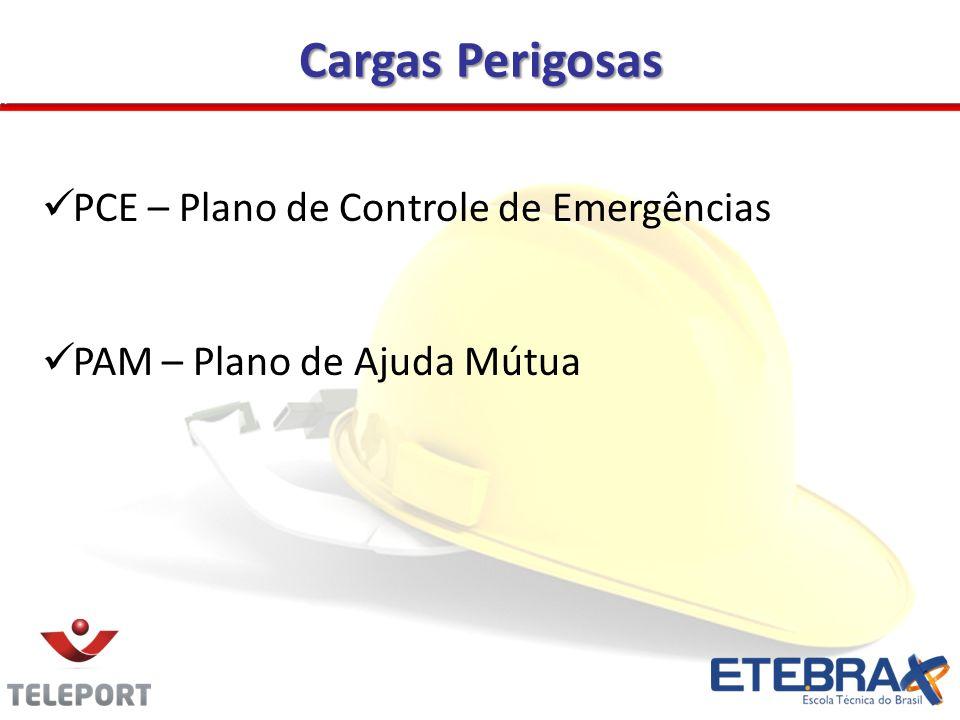 Cargas Perigosas PCE – Plano de Controle de Emergências PAM – Plano de Ajuda Mútua