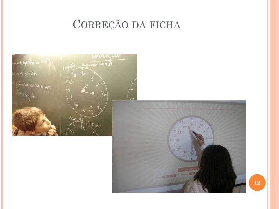 C ORREÇÃO DA FICHA 12