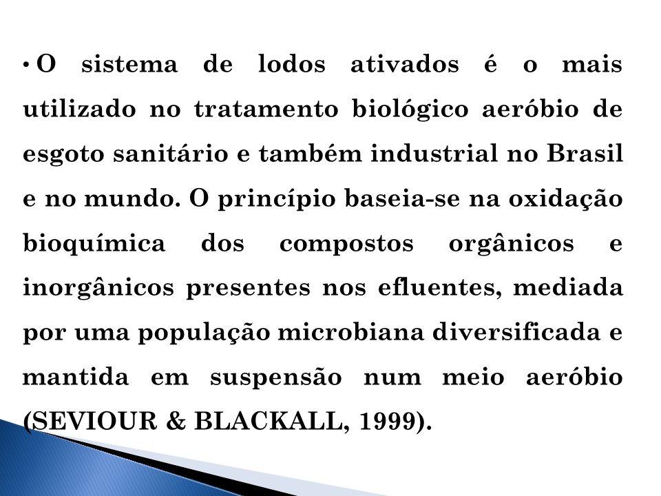 O sistema de lodos ativados é o mais utilizado no tratamento biológico aeróbio de esgoto sanitário e também industrial no Brasil e no mundo.