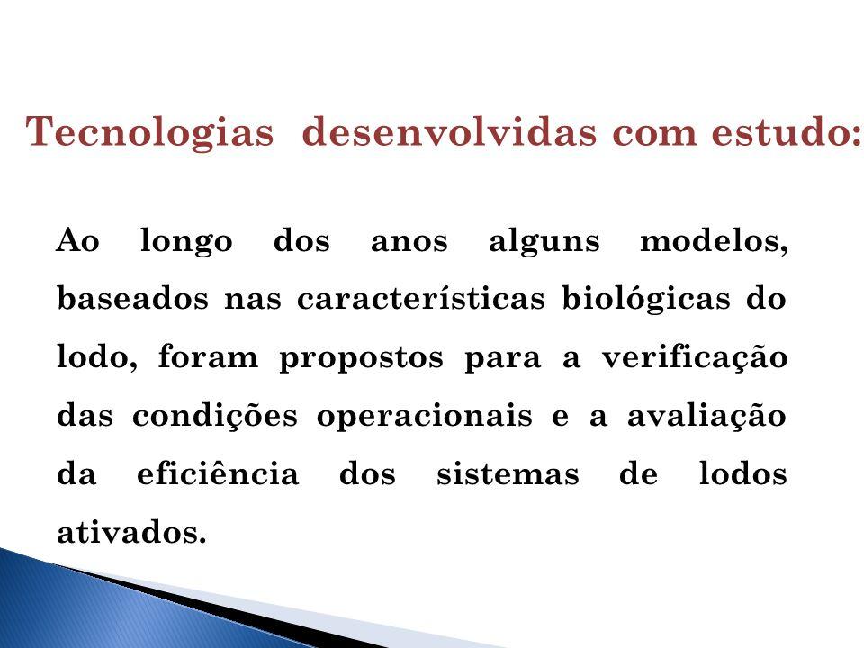 Ao longo dos anos alguns modelos, baseados nas características biológicas do lodo, foram propostos para a verificação das condições operacionais e a avaliação da eficiência dos sistemas de lodos ativados.