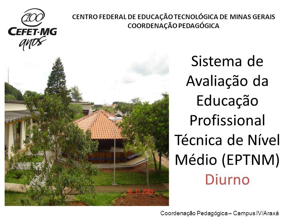 Sistema de Avaliação da Educação Profissional Técnica de Nível Médio (EPTNM) Diurno CENTRO FEDERAL DE EDUCAÇÃO TECNOLÓGICA DE MINAS GERAIS COORDENAÇÃO