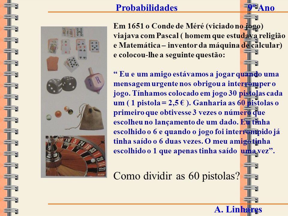 Probabilidades9º Ano A. Linhares