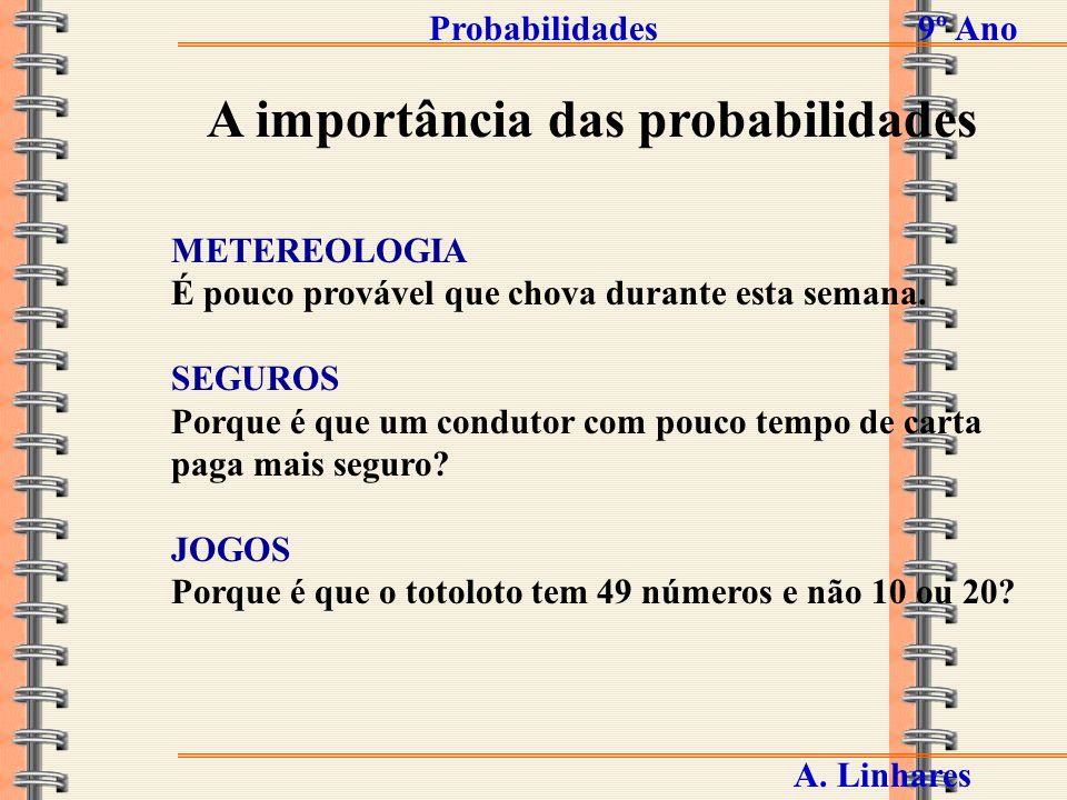Probabilidades9º Ano A.
