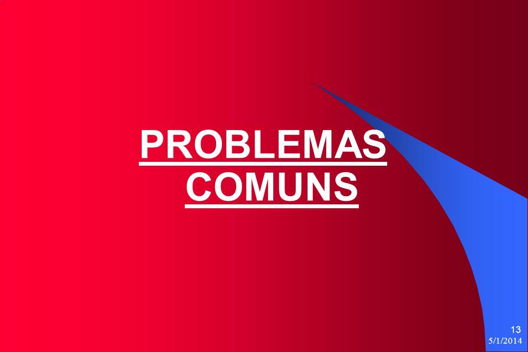 5/1/2014 13 PROBLEMAS COMUNS