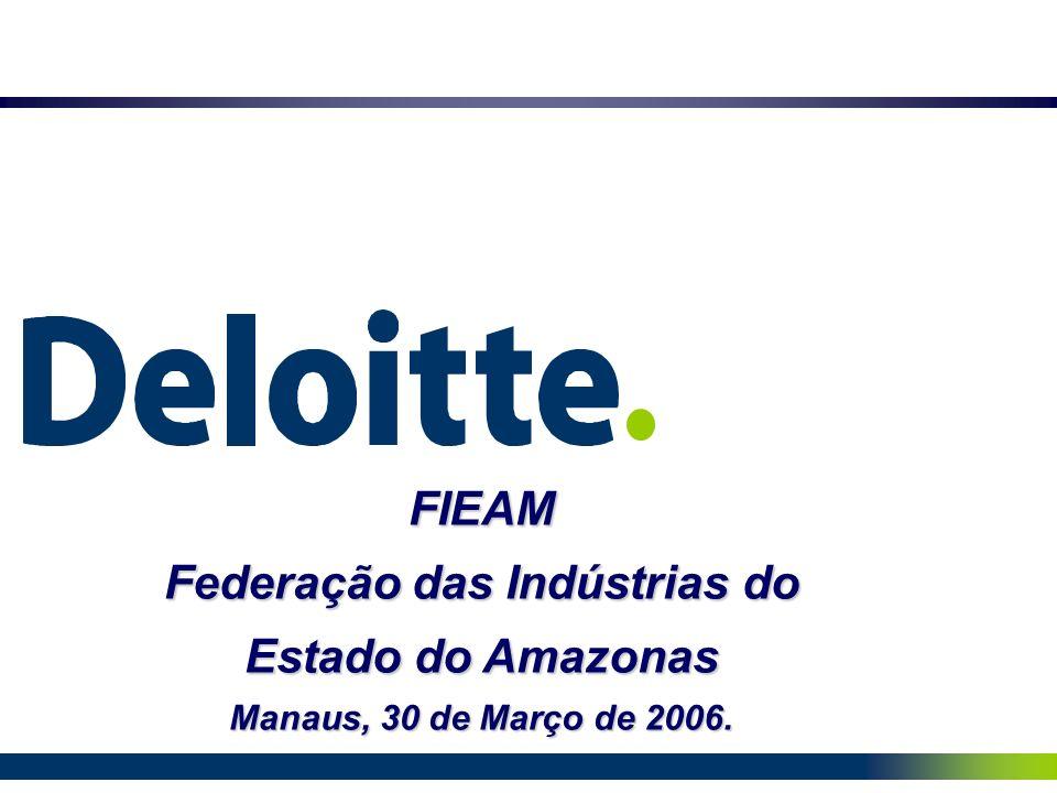 FIEAM Federação das Indústrias do Estado do Amazonas Manaus, 30 de Março de 2006.