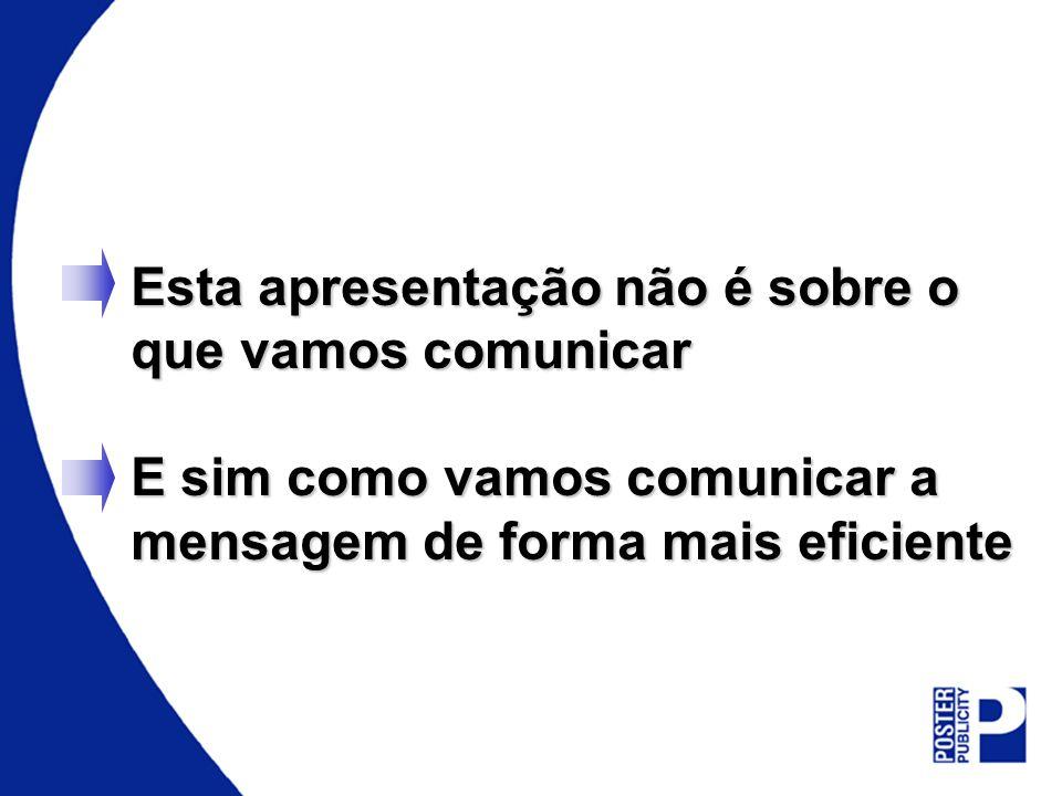 Comunicação Suscinta Proporciona Mais Impacto Focado Mob. Urb. Mais dificil de ler Mob. Urb.