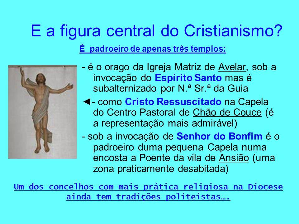 E a figura central do Cristianismo? - é o orago da Igreja Matriz de Avelar, sob a invocação do Espírito Santo mas é subalternizado por N.ª Sr.ª da Gui
