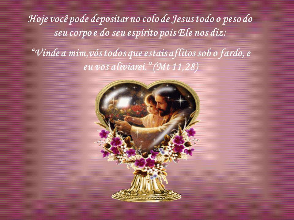 Deixemos que Ele nos arrebate para si, na sua pureza, na sua santidade infinita pois por este caminho nos purificará mediante um contínuo contato e com o toque divino de sua mão.