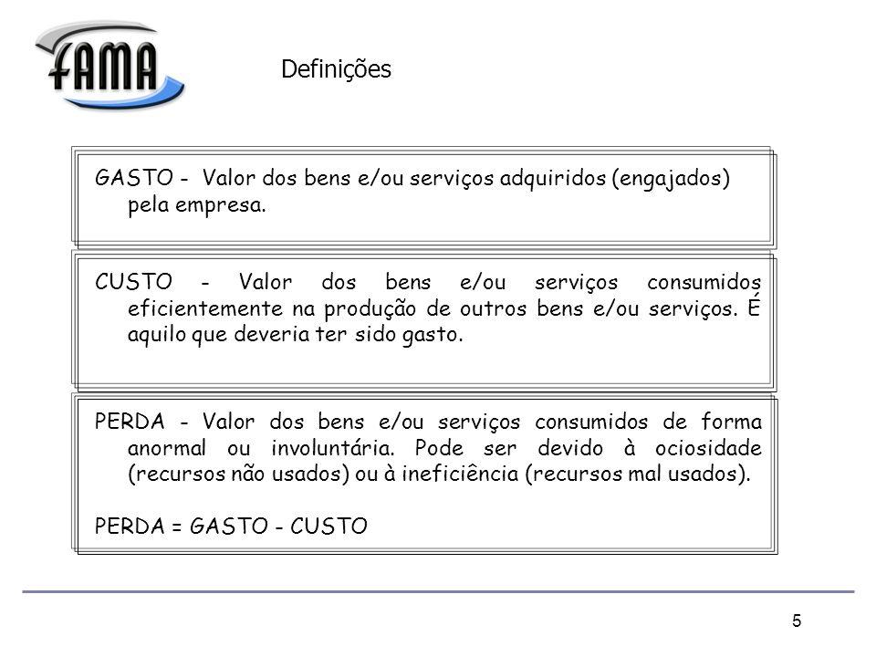 5 GASTO - Valor dos bens e/ou serviços adquiridos (engajados) pela empresa.