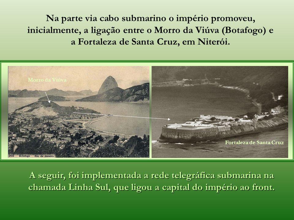 A parte terrestre se iniciou em setembro de 1865 e foi concluída em junho do ano seguinte. A empreitada contou com a colaboração de autoridades dos lo