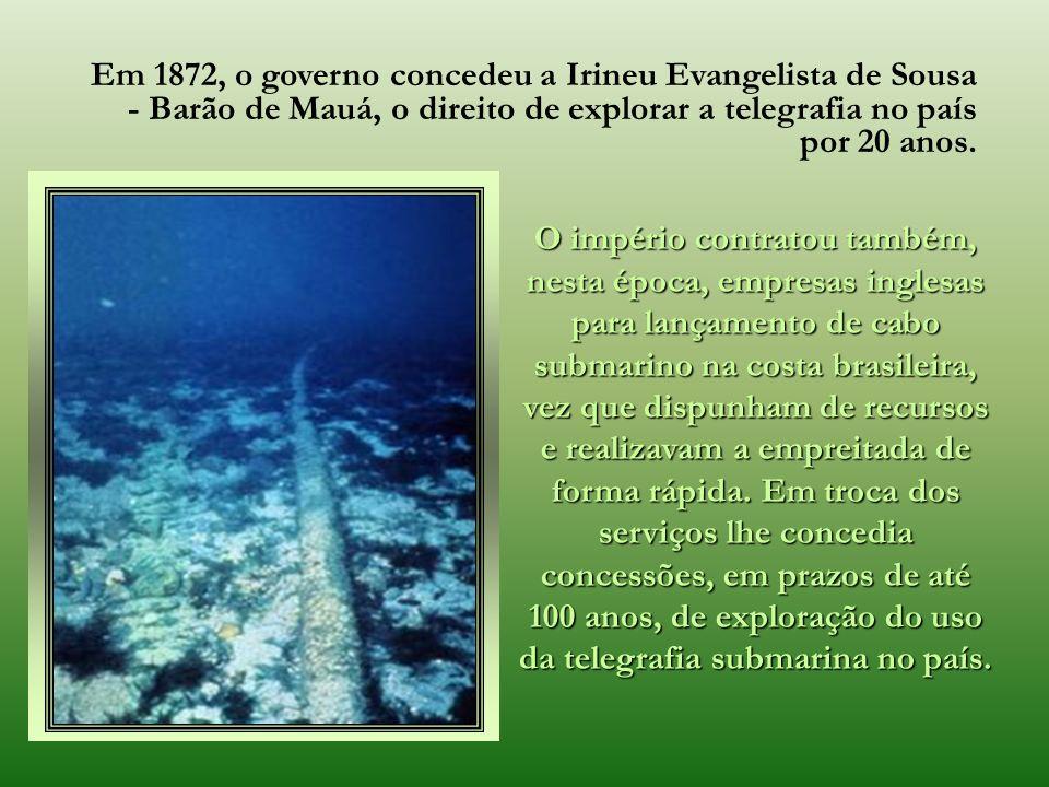 A conquista da telegrafia transatlântica através do cabo submarino, estendido pelo magnífico navio inglês Great Eastern, em 27 de julho de 1866, uniu
