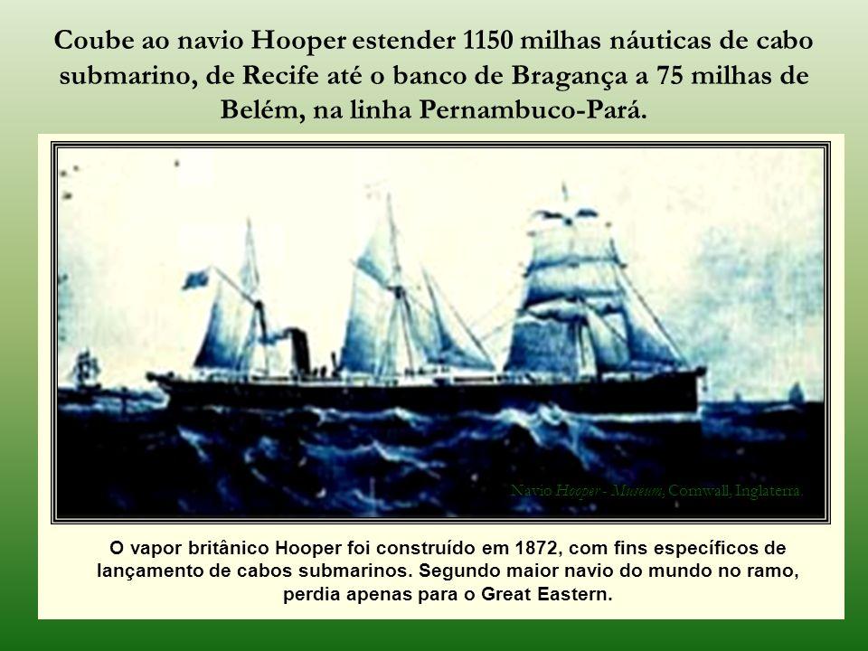 O império contratou também, nesta época, empresas inglesas para lançamento de cabo submarino na costa brasileira, vez que dispunham de recursos e real