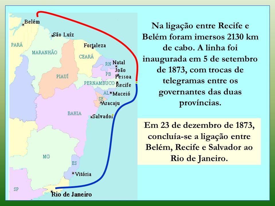 O Hooper, que havia chegado ao porto de Recife um dia antes, deixou a cidade em 08 de agosto de 1873. Aportou em Belém, sendo recebido com muita festa