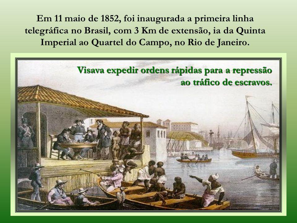 Rio de Janeiro, capital do Império, 1889. Um dos maiores incentivadores da telegrafia no Brasil, foi Guilherme Schüch de Capanema - Barão de Capanema.