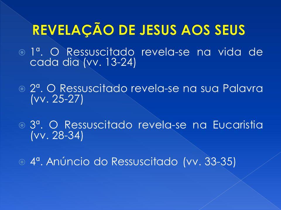 1ª.O Ressuscitado revela-se na vida de cada dia (vv.